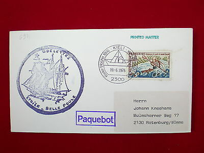 ZG-C782 FRANCE - Sports, 1976, Paquebot, Belle Poule, To Germany Cover