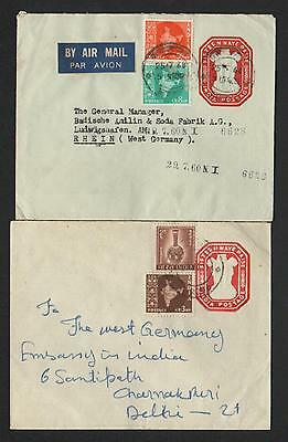 ZG-C804 INDIA IND - Entire, 1960, To Germany, Lot Of 2 Covers