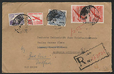 ZG-C810 CHILE - Air Mail, To Germany, Great Franking Cover