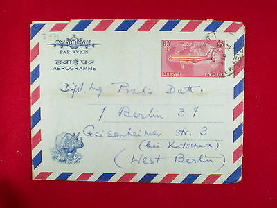 ZG-C826 INDIA IND - Aerogramme, 1967, Air Mail To Germany Cover