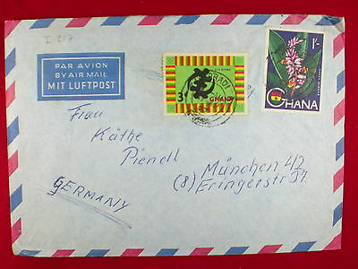 ZG-C833 GHANA - Flowers, Air Mail To Germany Cover