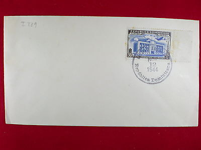 ZG-C837 DOMINICAN REP. - Cover, 1944, Communication Palace Stamp