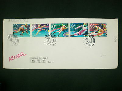 ZG-C876 US COVERS - Olympic Games, 1992, Air Mail To Biella Cover