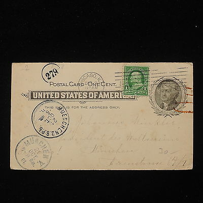 ZG-C921 US COVERS - Postcard, Entire, To Germany
