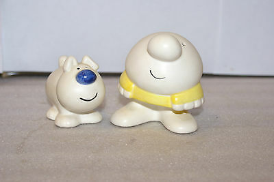 Vintage 1979 Ziggy and Fuzz Salt and Pepper Shakers Figurines Japan