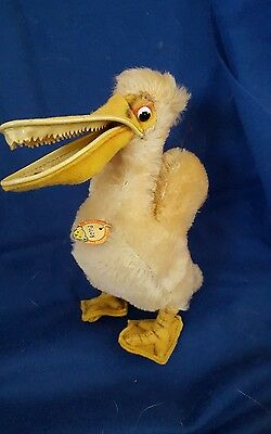 STEIFF Vintage Bird PICCY PELICAN Sea Bird  with ALL TAGS 50's