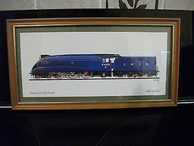 Framed Picture Of The Mallard Train