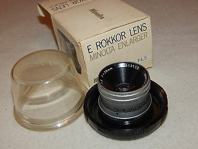 Minolta E Rokkor Enlarger lens 75mm f4.5m original box