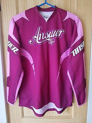 Answer Motocross Two Tone Pink Long Sleeve Graphic Jersey Women's Size Small