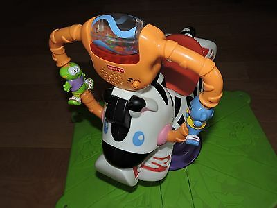 Fisher-Price Go Baby Go! Bounce & Spin Zebra Toddler Toy with Lights and Sounds