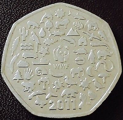 2011 Wwf 50P Coin Rare Fifty Pence