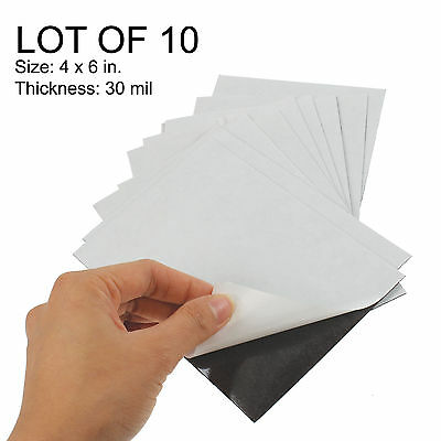 Adhesive Flexible Magnetic Sheets 4 x 6 in 30mil LOT OF 10 #MA4x6-30M-10#