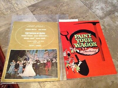 PAINT YOUR WAGON 1951 Booklet New Musical + The Sound Of Music Program Vintage