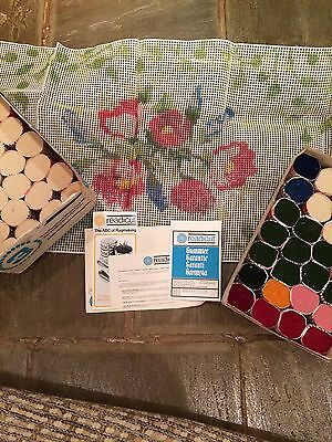 New Large Vintage Readicut Rug Making Kit Pre Cut Wool Unused