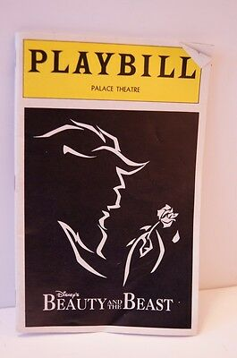 Beauty And The Beast Palace Theatre Broadway Playbill w/2 Tickets Jan 18th, 1997
