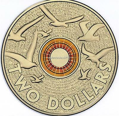 2015 RAM Remembrance day Two Dollar Coin Uncirculated ( Orange )