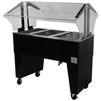 """Advance Tabco 47"""" Ice Cooled Portable Food Buffet 3 Pan Inserts Open Base"""