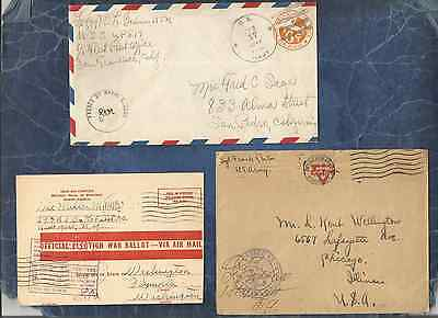 Us Forces-Ww1-Ww2 Ph,scarce Lot Of 9 Forces Related Covers To Us#3