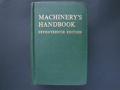 Machinery's Handbook Seventeenth Edition 1964 Industry Engineering Manufaturing