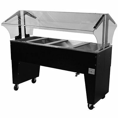 "Advance Tabco Portable Cold Food Buffet Table w/ 8"" Deep Well Open Base"
