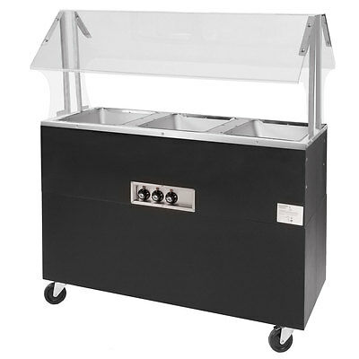"""Advance Tabco 54"""" Electric 3 Wells Portable Hot Food Table Solid Base 120v"""
