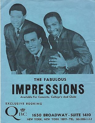 Curtis Mayfield- Impressions Original Handbill For Booking Shows-Soul