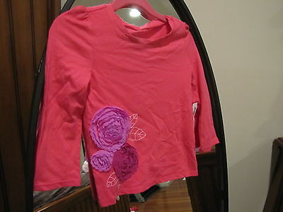 Little Girl's Old Navy Pink Floral Shirt Size 3T - Brand New!