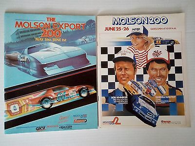 2 Molson Export 200 Race Programs