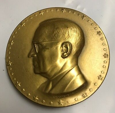 OFFICIAL 1949 HARRY S TRUMAN INAUGURAL 2  BRONZE MEDAL Jennewein
