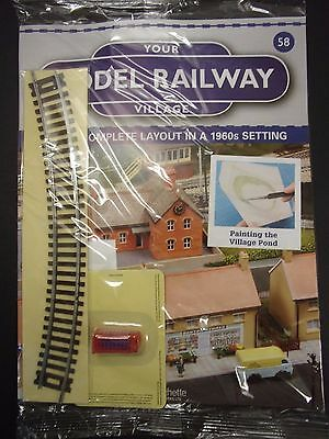 Your Model Railway Village Magazine No 58 telephone box & curved track
