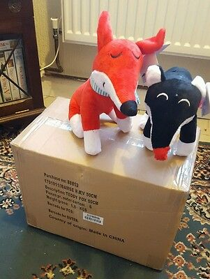 Joblot box of 6  Teddy foxes soft toys