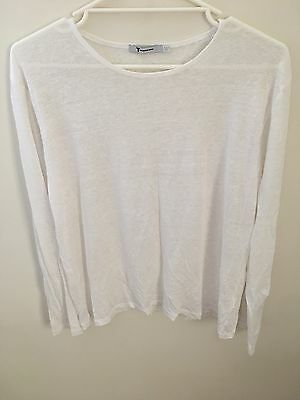 T by Alexander Wang White Long Sleeve Tshirt - Size L