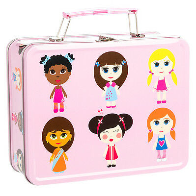 NEW Bobble Art Paper Doll Tin Suitcase