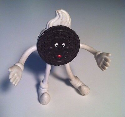 Vintage Rubber OREO COOKIE Figurine Movable Poseable