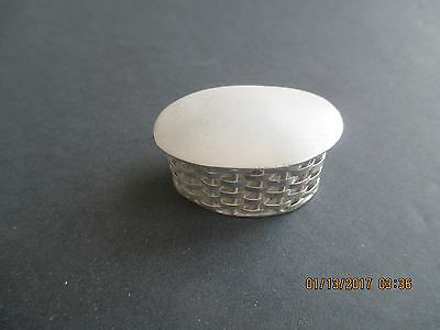 STERLING SILVER Pill Box..Weave Style..Great Look..New..Taxco