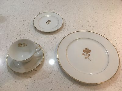 fine china dinnerware Golden Anniversary Gold Rim