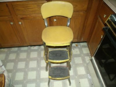 Vintage Mid Century Retro Cosco Kitchen Chair Pull Out Step Stool Atomic Age