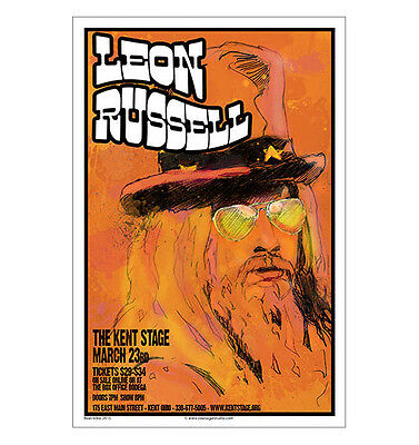 Leon Russell 2015  Concert Poster