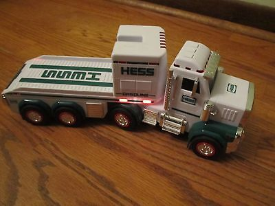 2013 Hess Semi Truck Tractor Hauler Toy With Lights & Sounds