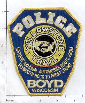 Wisconsin - Boyd WI Police Dept Patch - Yellowstone Trail