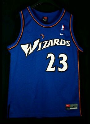 Authentic Swingman Michael Air Jordan 44 L Wizards NBA Baloncesto Jersey