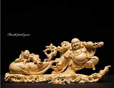 Exquisite Wood Carving Crafts,Hand-made Cute Home Decoration,GuanYin & Buddha