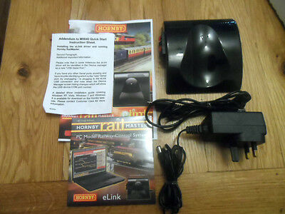 hornby ex set railmaster e link transformer pc disc & wires & instruction