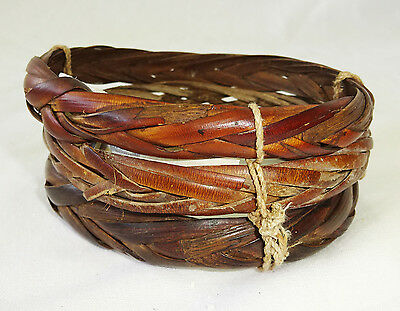 New Guinea Asmat Tribe Baket Woven Bangle Bracelet (Eic)