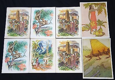8x 1950s Matson & Royal Hawaiian Menu Covers by Kelly & Macouillard (Cra) Lot#2