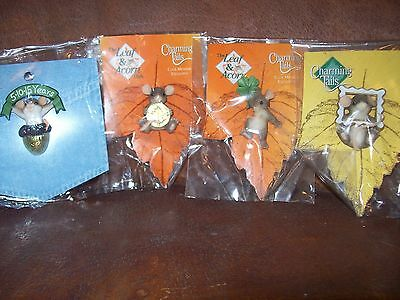 Charming Tails set of 4 Lapel Pins