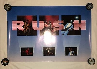 Vintage 80S Rush Rock Band Tour Poster Classic Live Pictures