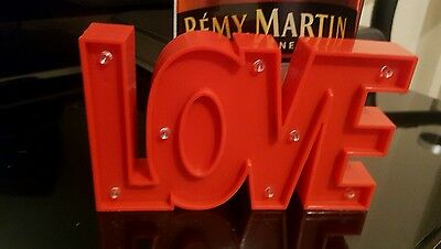 Great Valentines Day Gift LOVE Light up sign red display ornament