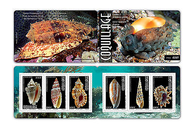 New Issue French Polynesia Shells Booklet  Mnh 2017