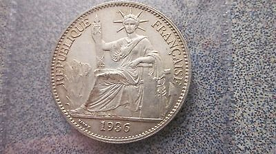 French Indo China Silver 1936 50 Cents Choice Xf